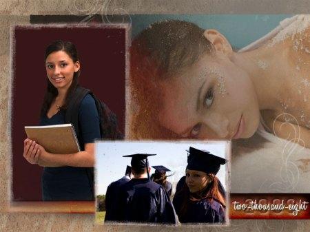 senior portrait yearbook page