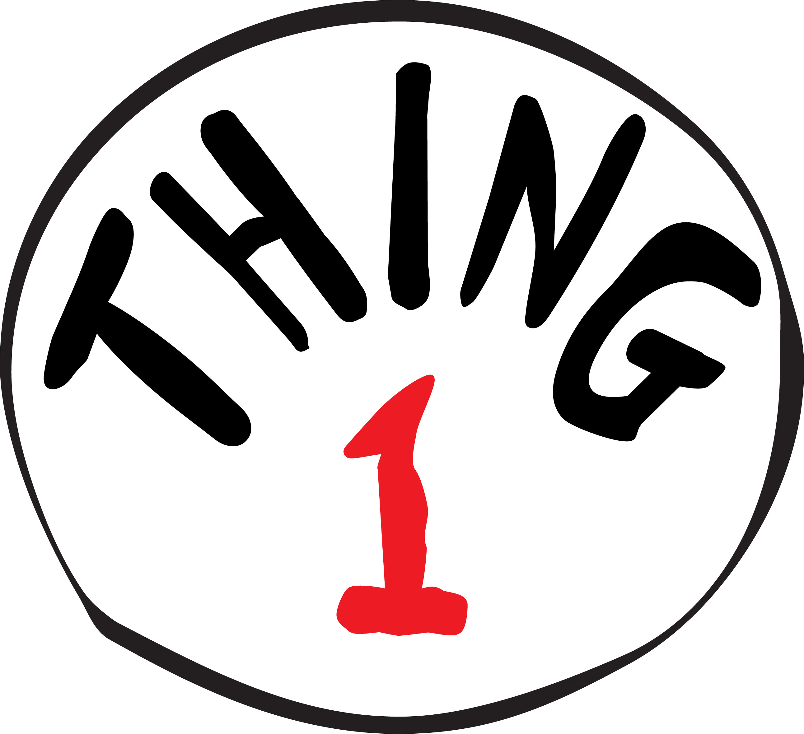 Thing 1 And 2 Logo Colouring Pages